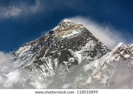 Portrait of the Mt. Everest (view from Renjo Pass) - Nepal, Himalayas