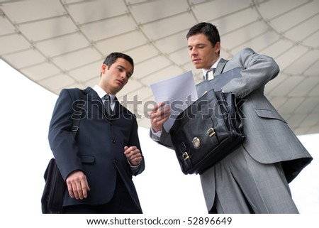 Portrait of two businessmen