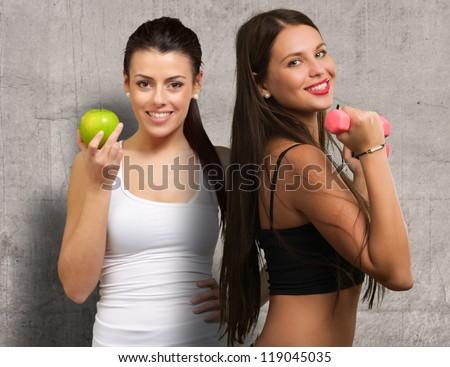 Portrait Of Two Happy Woman, Indoor