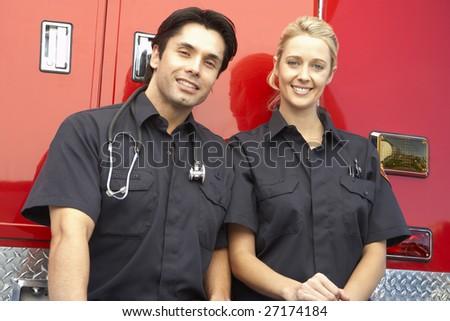 Portrait of two paramedics