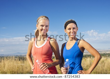Portrait of Two women after their fitness workout