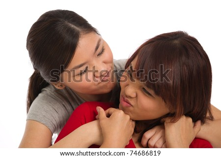 portrait of two women themed on friendship and togetherness