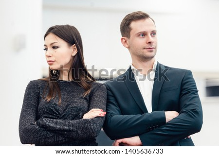 Portrait of unhappy couple not speaking after having dispute. Concept of unhappiness family #1405636733