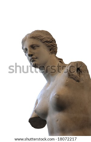 Portrait of Venus de Milo,  Greek statue