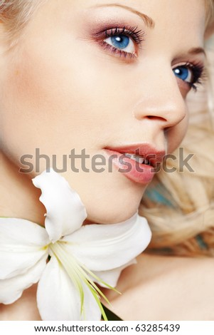 Portrait of very beautiful face close-up