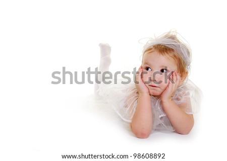 Portrait of very sweet little girl