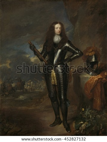 Portrait of William III, Prince of Orange and Stadholder, by Caspar Netscher, c. 1680-84, Dutch painting, oil on canvas. At the time that this portrait was made, William III was stadholder of the Dut