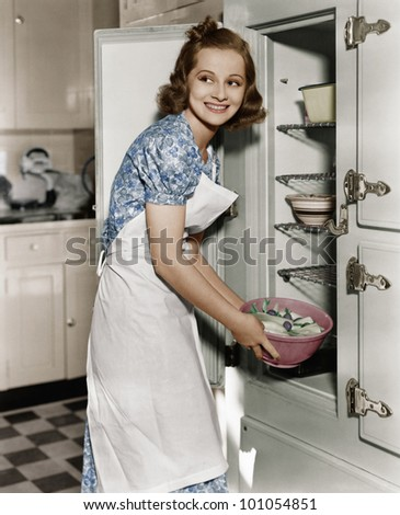 Portrait of woman in kitchen