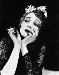 Portrait of woman smoking