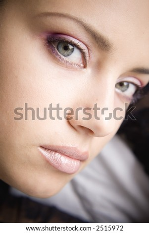 Portrait of  woman with beautiful make up