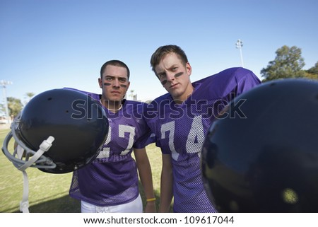 Standing Football Football Players Standing