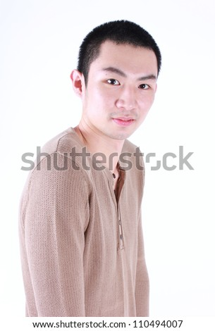 Portrait of young asian man.