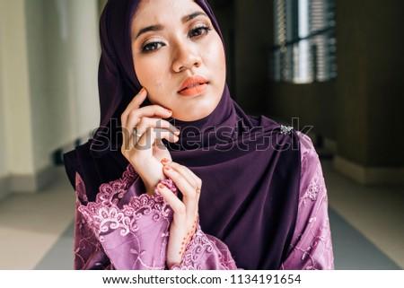 muslim girl smoking