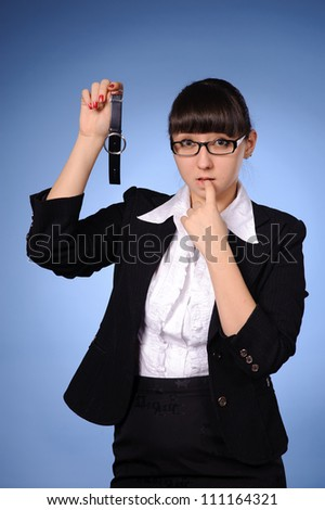 portrait of young beauty business woman