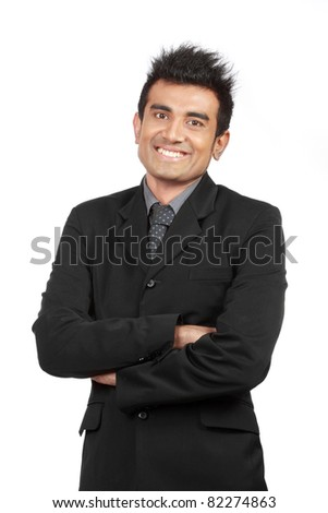 portrait of young businessman smiling