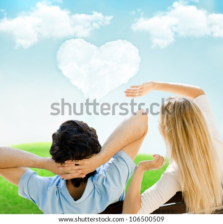 Portrait of young couple in love