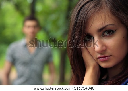 portrait of young couple. outdoor shot