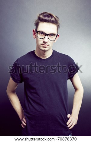 Portrait of young fashionable man