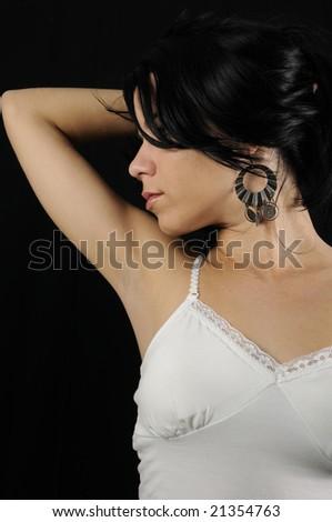 Portrait of young fresh hispanic beauty posing
