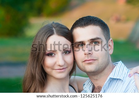 Portrait of young love couple