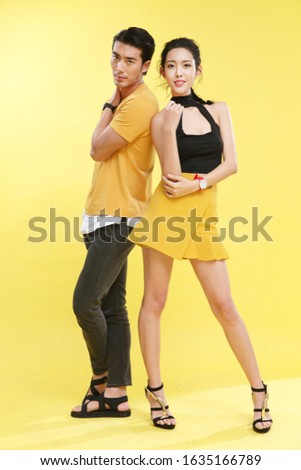 Portrait of young man and young woman Сток-фото ©