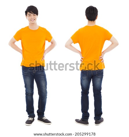 royalty free potrait of young man standing front 186183758 stock