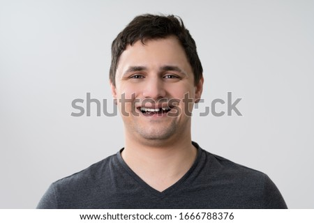 Portrait Of Young Man With Missing Tooth Сток-фото ©