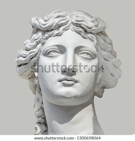Portrait of young sensual Roman Renaissance Era woman in Vienna, Austria