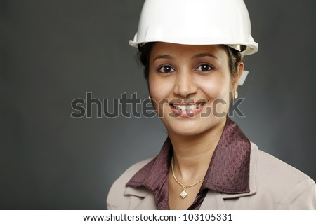 Portrait of Young woman architect