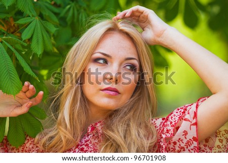 portrait of young woman outdoor