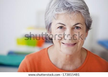 Portrait Of -65 Yr-Old Woman