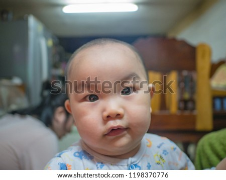 Portrait photo of Cutie and handsome asian boy baby or infant #1198370776
