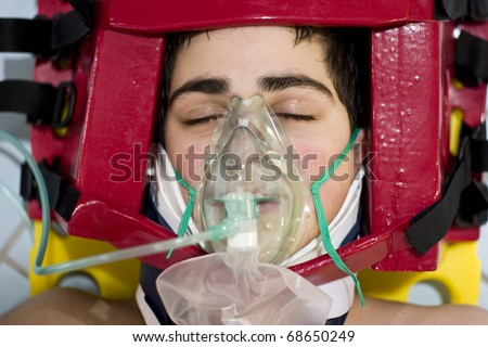 portrait teen Oxygen first aid