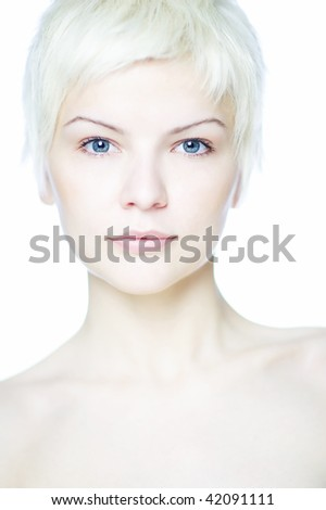 Portrait woman blonde