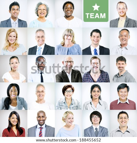 Portraits of Multiethnic Diverse Business People Stock photo ©