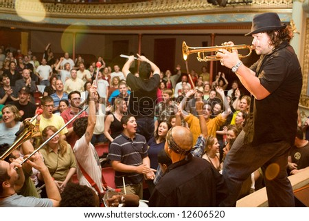 Portsmouth NH - May 11, 2008: Ozomatli performing at the Music Hall.