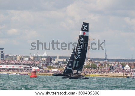 PORTSMOUTH, UK JULY 25, 2015: First qualifying event that will count towards the 2017 America\'s Cup Challenger Series, the winner will take on Oracle in the 2017 America\'s Cup