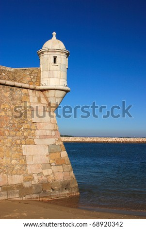 Portugal Algarve Lagos Ponta da Bandeira Fortress and harbor entrance