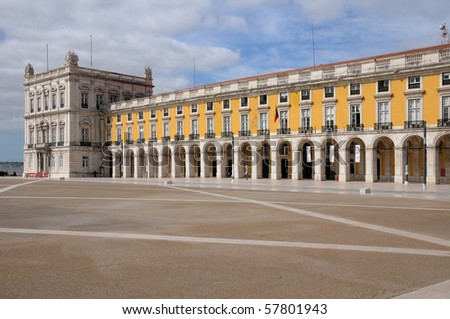 Portugal, Commerce Square in Lisbon