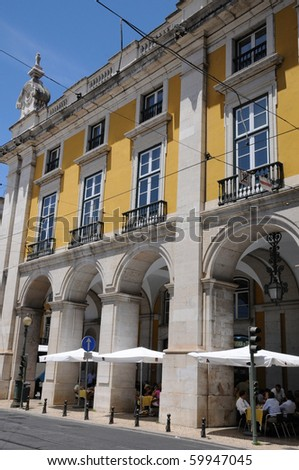 Portugal, Commerce Square in Lisbon - stock photo