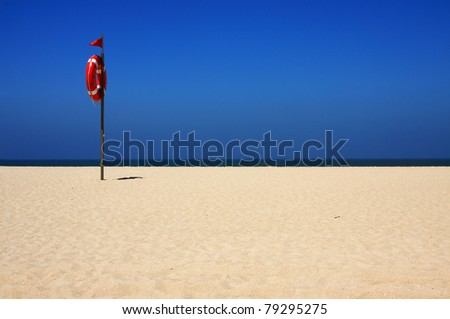 Portugal deserted 'Figueira da Foz' sandy  beach