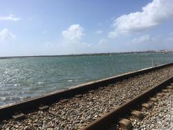 Portugal Faro rail by sea side