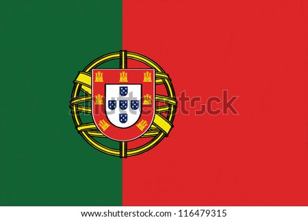 Portugal  flag drawing by pastel on charcoal paper