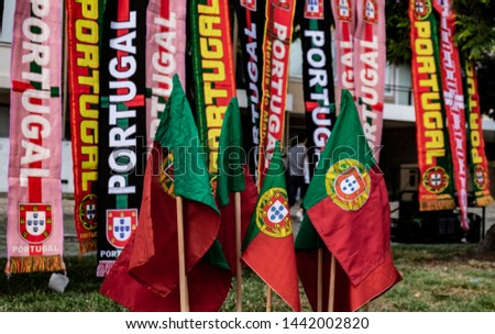Portugal Flags and Scarfs from Street Vendors in Porto