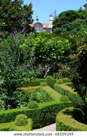 Portugal, garden of Mateus palace in Vila Real
