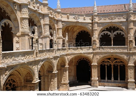 Portugal, Jeronimos monastery in Lisbon