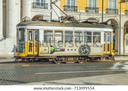 portugal  lisabon city  rails ...