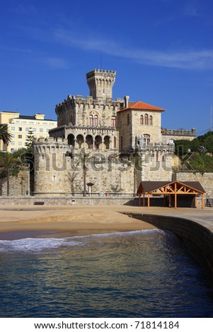 Portugal Lisbon's Sunshine Coast Estoril beach and fortified mansion