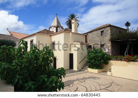 Portugal Madeira Porto Santo Colombus' house and courtyard
