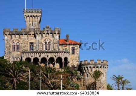 Portugal, old castle in Estoril - stock photo